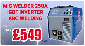 R-Tech Mig Welder 250A PROMIG250