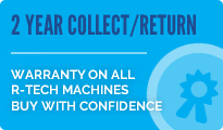 2 Year Collect & Return Warranty on all R-Tech Machines