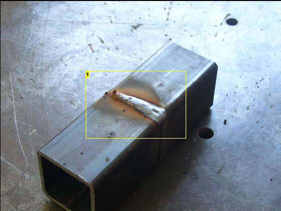 Ground down MIG welding joint