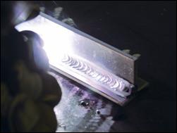 Welding aluminium plate