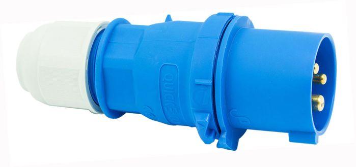 240V 16A 3 Pin Blue Plug IP44 6H