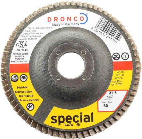 Dronco Zirconium Flap Disc 60 Grit 4.5 inch