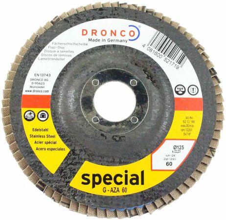 Dronco Zirconium Flap Disc 60 Grit 5 inch