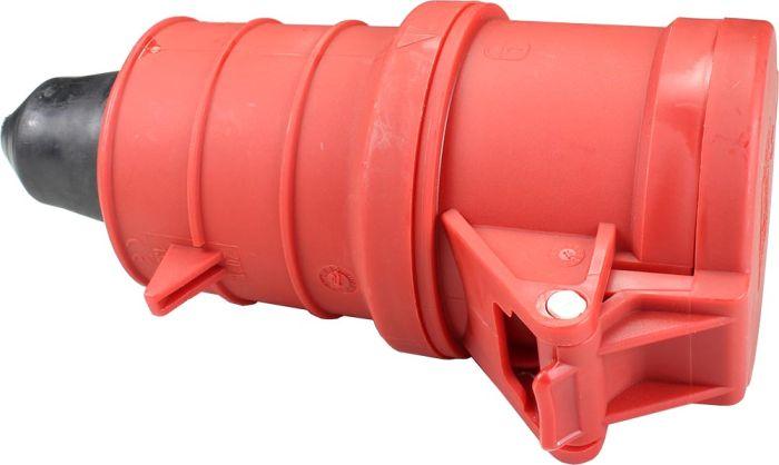 415V 32A 5 Pin Red Socket IP44 6H