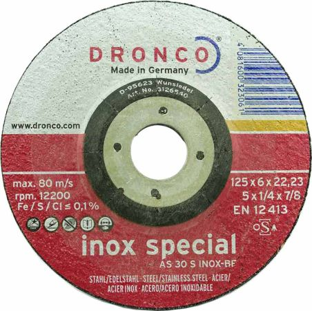 5 inch DPC Dronco Grinding Disc for stainless