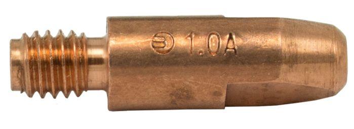 MB25 Aluminium Contact Tip 1.0mm (Thread 6mm)