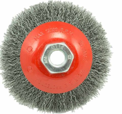 Dronco 100mm Tapered wire brush wheel