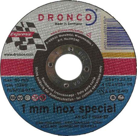 4.5 inch Dronco INOX Metal Cutting Disc (1mm)
