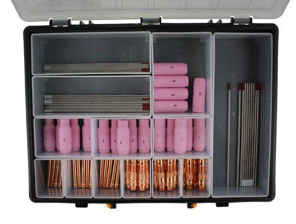 81 piece ACDC TIG Welding Consumable Kit WP17/18/26