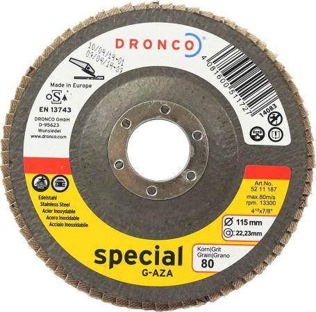 Dronco Zirconium Flap Disc 80 Grit 4.5 inch