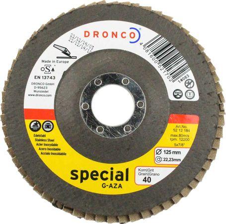 Dronco  Zirconium Flap Disc 40 Grit 5 inch