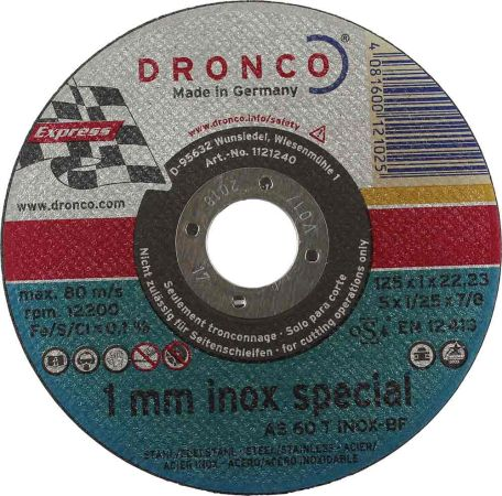 5 inch Dronco INOX Metal Cutting Disc (1mm)