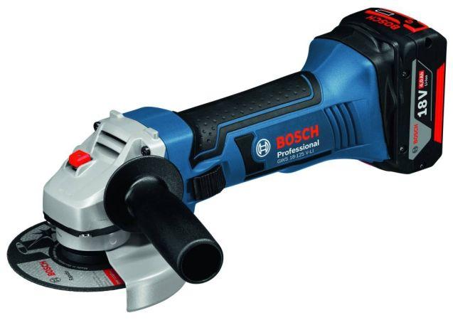 """Bosch GWS 18v-Li 5"""" Angle Grinder - 2 Batteries"""