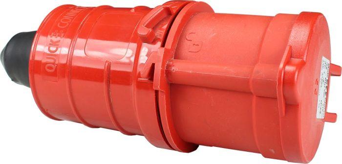 415V 32A 4 Pin Red Socket IP44 6H