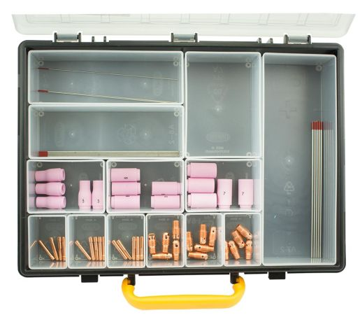 61 piece DC TIG Welding Consumable Kit WP9-20 - Low amps
