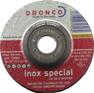 4.5 inch DPC Dronco Grinding Disc for stainless
