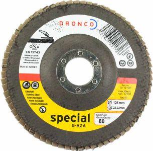 Dronco Zirconium Flap Disc 80 Grit 5 inch