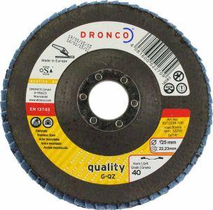 Dronco  Zirconium Flap Disc 40 Grit 5 inch (Tapered)