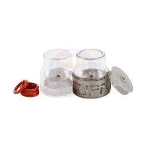 Furick Fupa #12 Kit - Glass Cups w/ Titanium Cover