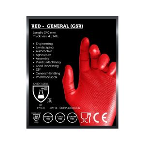 Gripsafe Red Disposable Gloves (Box of 50)
