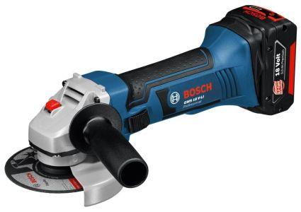 """Bosch GWS 18v-Li 4.5"""" Angle Grinder - 2 Batteries"""