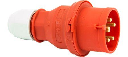 415V 16A 5 Pin Red Plug IP44 6H