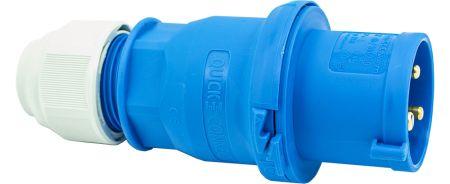 240V 32A 3 Pin Blue Plug IP44 6H