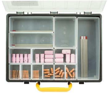 76 piece AC/DC TIG Welding Consumable WP9-20 Kit Low amps