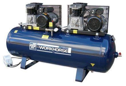 Air Compressor Fiac Workhorse 2x3HP 250L 28CFM 240V