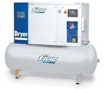 Fiac Rotary Screw Air Compressor with Refrigerated Dryer 10HP 270 Litre 415V