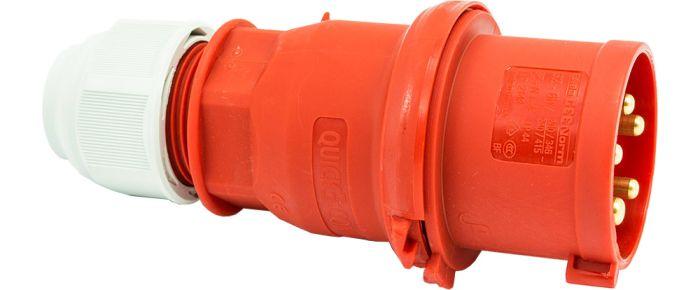 415V 32A 5 Pin Red Plug IP44 6H