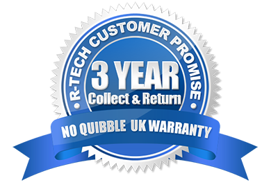 R-Tech 3 year warranty logo