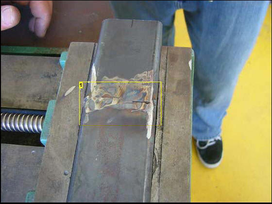 MIG welding example on metal tube