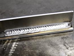 Finished aluminium weld