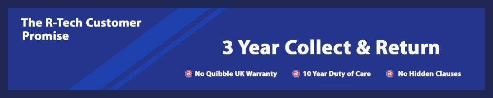 R-Tech 3 Year Warranty Banner