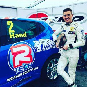R-Tech Welding Equipment Sponsorship of Ash Hand in Renault UK Clio Cup