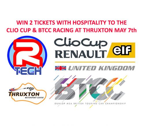 Win 2 Free Tickets to the BTCC and Clio Cup at Thruxton on the 7th May